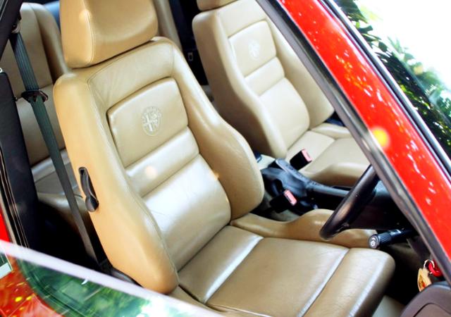 ALFA ROMEO GTV LEATHER SEATS.