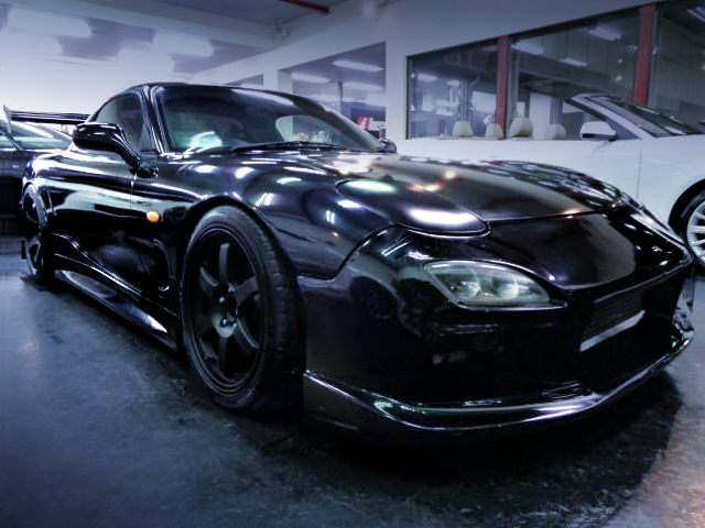 FRONT EXTERIOR OF FD3S RX-7 TYPE-RB BATHURST-X TO BLACK.