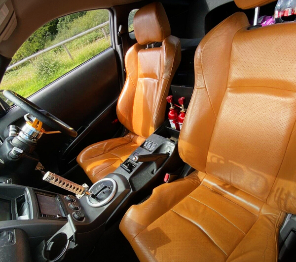BROWN LEATHER SEAT OF Z33 FAIRLADY Z.