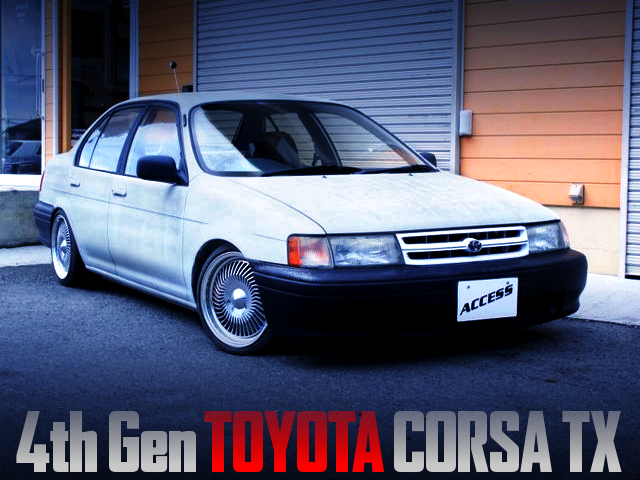 USDM CUSTOMS OF TOYOTA EL41 CORSA SEDAN.