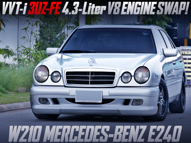 3UZ-FE 4.3-liter V8 ENGINE SWAP with AT INTO W210 BENZ E240.