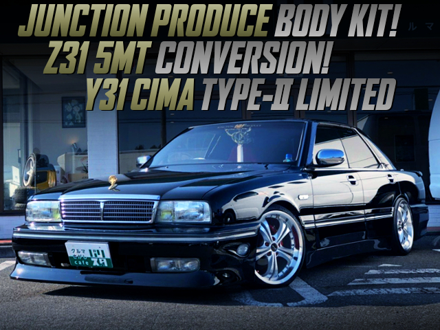 Z31 5MT CONVERSION AND JUNCTION PRODUCE BODY KIT With Y31 NISSAN CIMA BLACK.