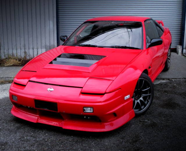 FRONT EXTERIOR OF 180SX TYPE-X RED.