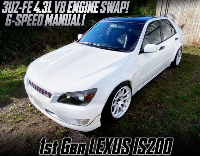 3UZ 4300cc V8 And 6MT SWAPPED 1st Gen LEXUS IS200.