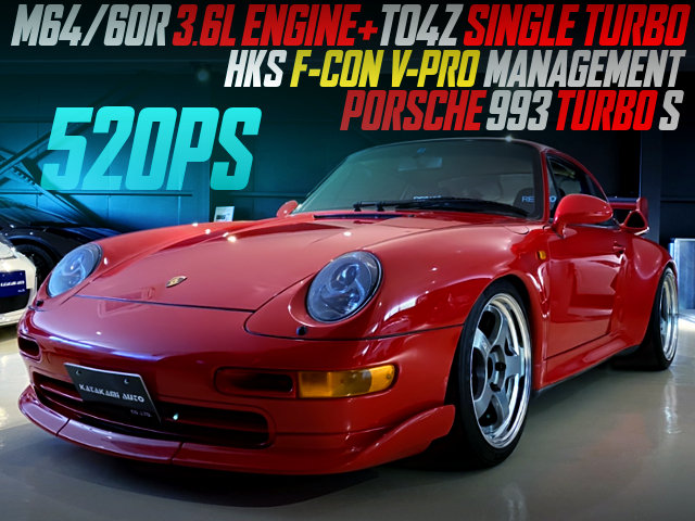 TO4Z SINGLE TURBO and F-CON V-PRO INTO PORSCHE 993 TURBO S.