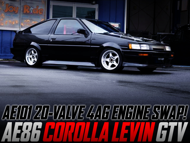 20V 4AG SWAPPED AE86 COROLLA LEVIN TO BLACK.