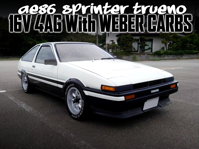 16V 4AG With WEBER CARBS INTO AE86 TRUENO PANDA COLOR.