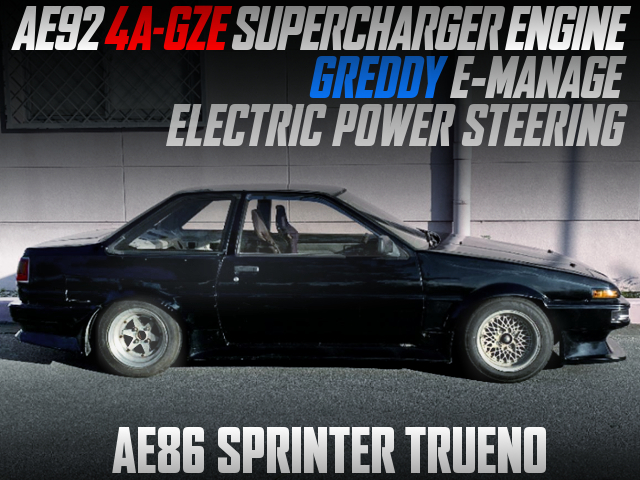AE92 4AGZE SUPERCHARGER ENGINE INTO AE86 TRUENO 2-DOOR.