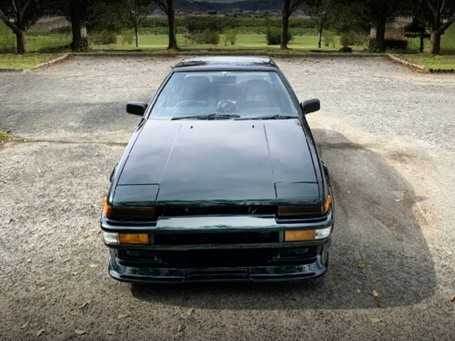 FRONT FACE OF AE86 TRUENO 2-DOOR GT.