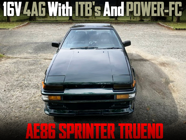16V 4AG With ITBs and POWER-FC INTO AE86 TRUENO.