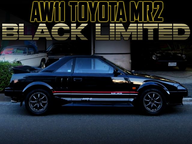 AW11 TOYOTA MR2 BLACK LIMITED.