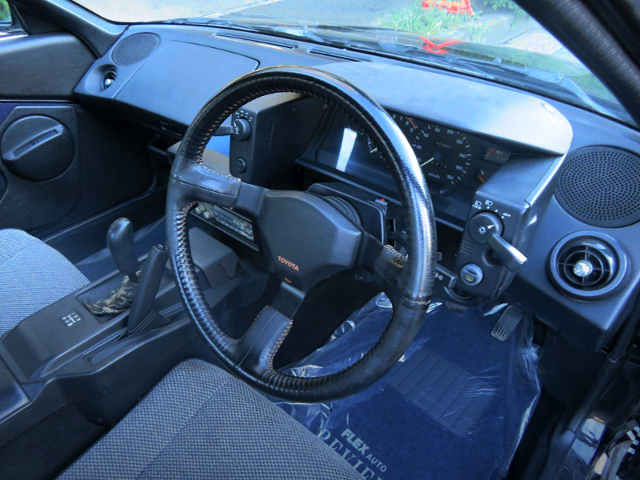 INTERIOR STEERING OF AW11 MR2 BLACK LIMITED.
