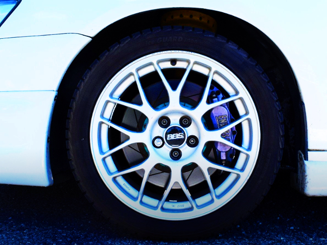 BBS WHEEL AND ENDLESS BRAKE CALIPER.