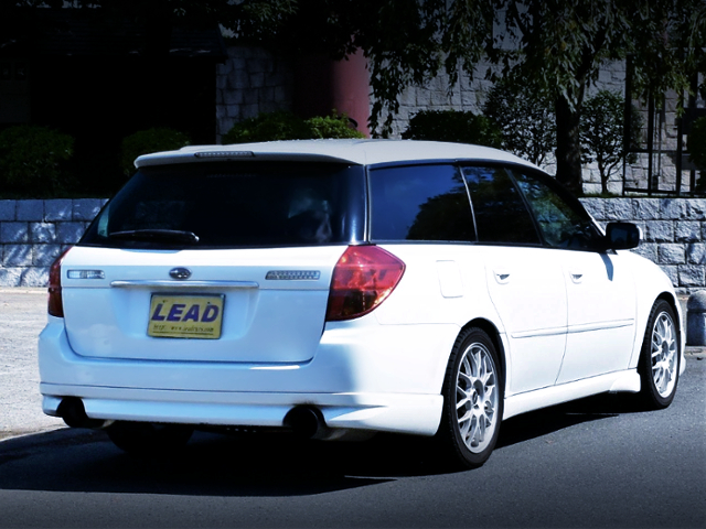 REAR EXTERIOR OF BP5 LEGACY TOURING WAGON.