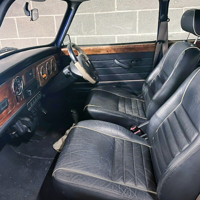 INTERIOR OF CLASSIC MINI.