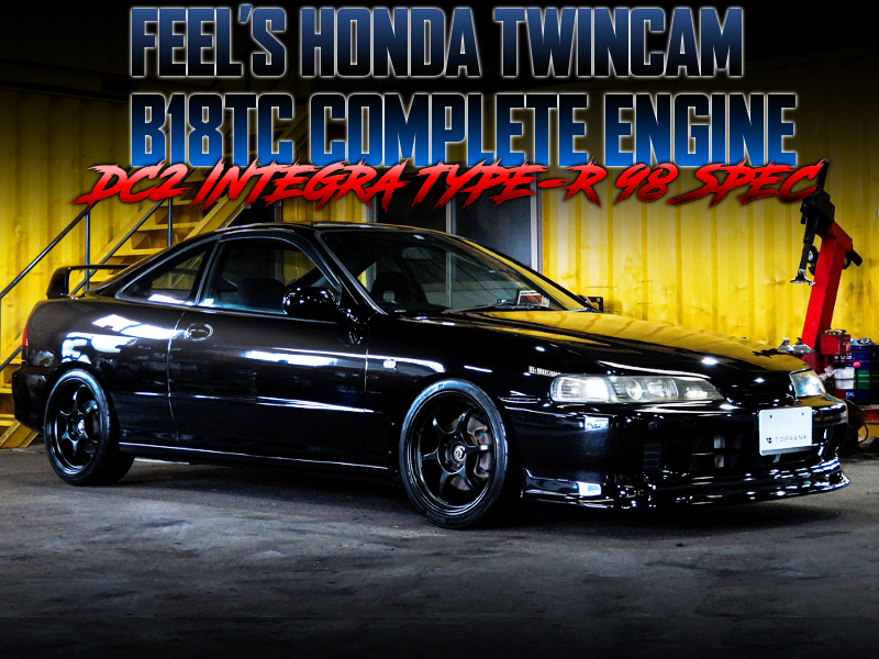 HONDA TWINCAM B18TC COMPLETE ENGINE INTO DC2 INTEGRA TYPE-R BLACK.