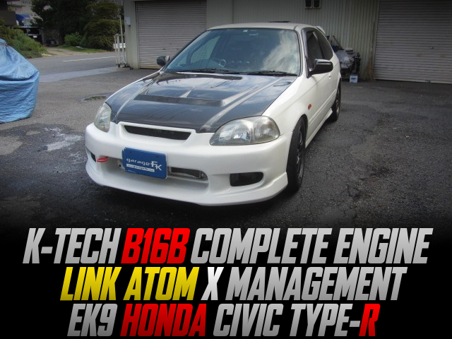 K-TECH B16B COMPLETE ENGINE INTO EK9 CIVIC TYPE-R With CHAMPIONSHIP WHITE.