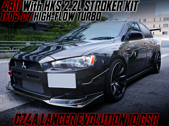 4B11 With HKS 2.2L KIT And TF06-07 TURBO INTO EVO 10 GSR.