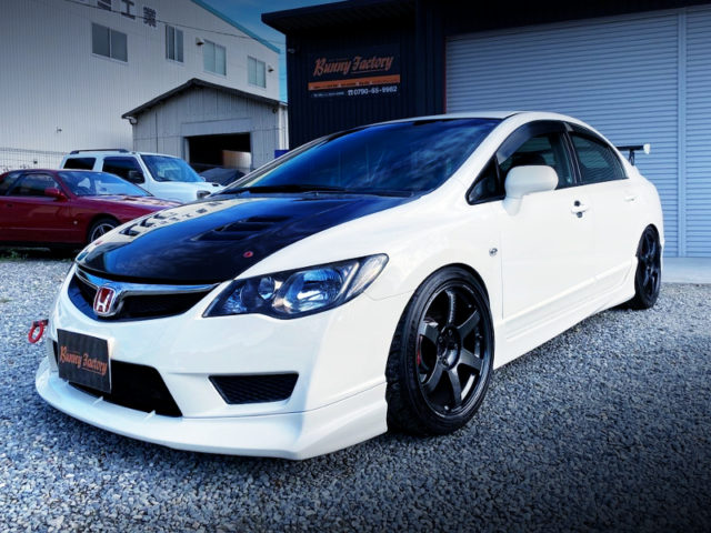 FRONT EXTERIOR OF FD2 CIVIC TYPE-R CHAMPIONSHIP-WHITE.
