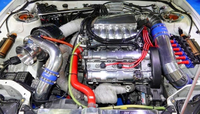 6G72 3.1L With T88-38GK SINGLE TURBO.
