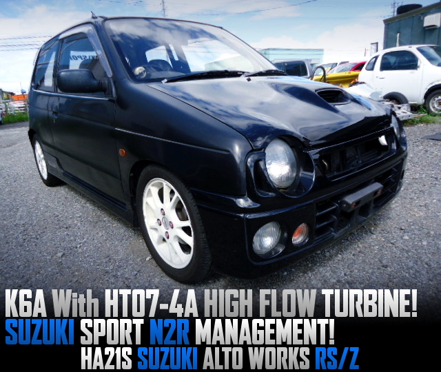 HT07-4A HIGH-FLOW TURBO ON K6A INTO HA21S ALTO WORKS RSZ.