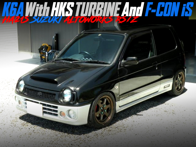 K6A With HKS TURBo And FCON iS INTO HA21S ALTO WORKS RSZ.