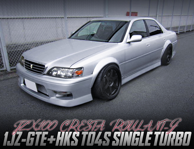 TO4S SINGLE TURBO ON 1JZ-GTE INTO JZX100 CRESTA ROULANT-G.