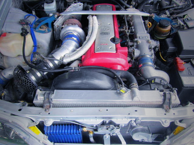 1JZ-GTE With HKS TO4S SINGLE TURBO.