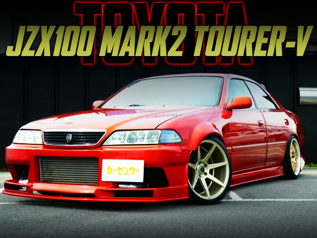 WIDEBODY And ORANGE PAINT OF JZX100 MARK2 TOURER-V.
