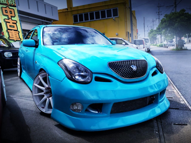 FRONT EXTERIOR OF JZX110 VEROSSA VR25 TO TIFFANY BLUE.