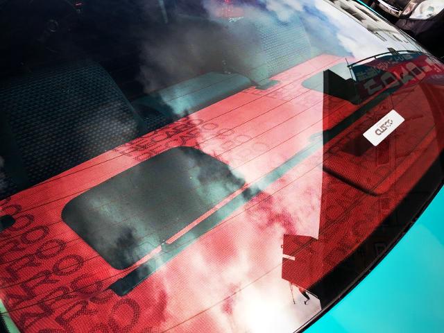 RECARO CLOTH ON CAR SPEAKER BOARD.