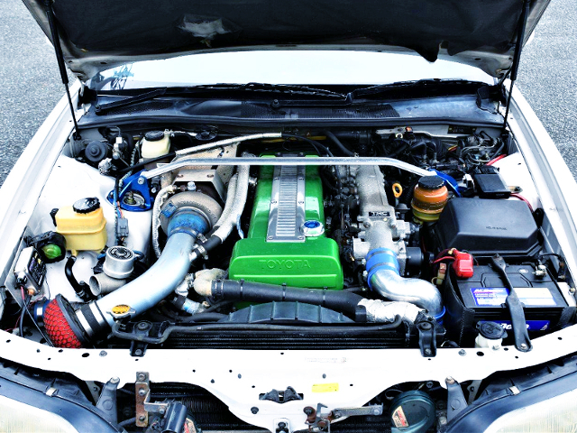 NON-VVTi 1JZ-GTE T67-25G SINGLE TURBO ENGINE.