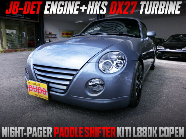 JB-DET With DX27 TURBO And PADDLE SHIFTER KIT INTO L880K COPEN.