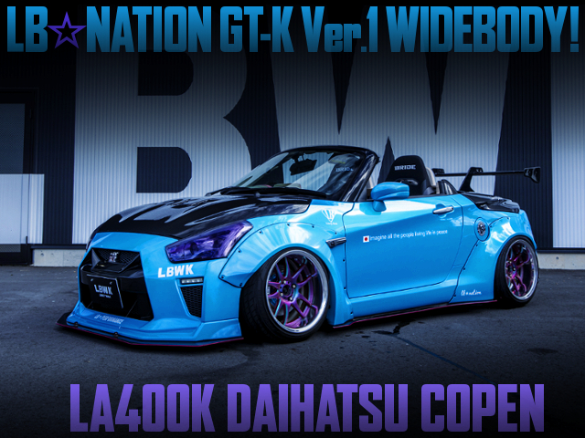 LB-NATION GT-K WIDEBODY BUILT OF LA400K COPEN LIGHT BLUE.