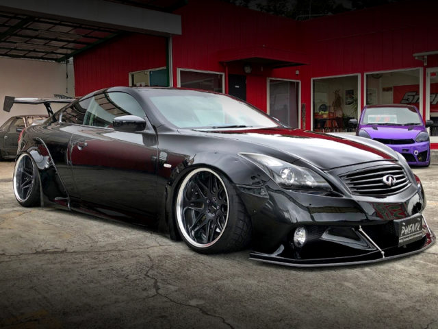 FRONT EXTERIOR OF LB-NATION WIDEBODY TO V36 SKYLINE COUPE.