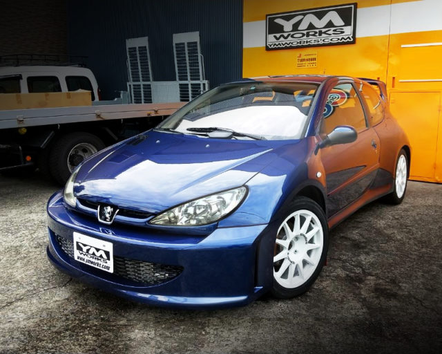 FRONT EXTERIOR OF PEUGEOT 206 WIDEBODY TURBO.