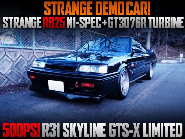 RB25 With GT3076R TURBO INTO STRANGE DEMO CAR HR31 SKYLINE.