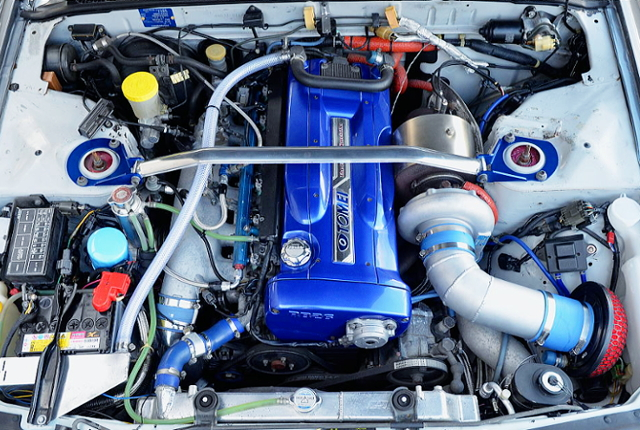 RB26 2.7L ENGINE WiTH T78-33D SINGLE TURBO.