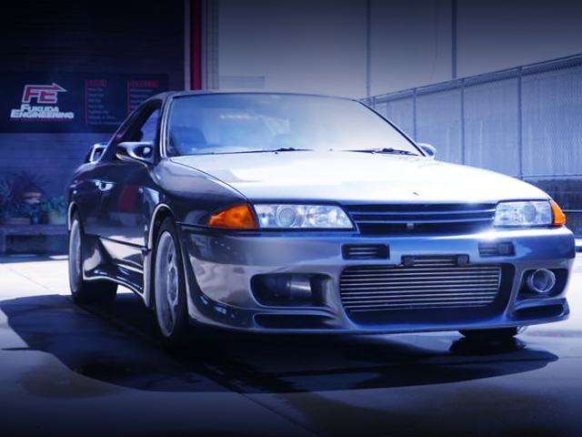 FRONT EXTERIOR OF R32 GT-R TO GUN METALLIC.