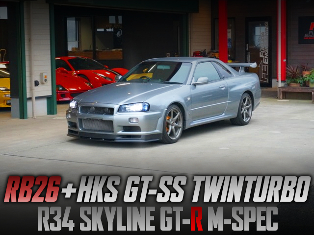 HKS GT-SS TWINTURBO ON RB26 INTO R34 GT-R M-SPEC.