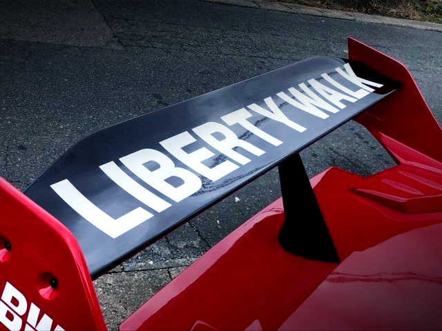 LIBERTY WALK LOGO AT REAR WING.