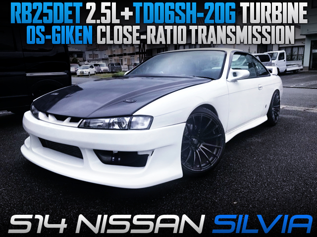 RB25DET SWAP With TD06SH-20G TURBO AND CLOSE-RATIO GEARBOX INTO S14 SILVIA.