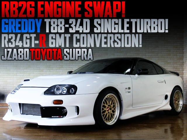 RB26 SWAP With T88-34D SINGLE TURBO And 6MT INTO JZA80 SUPRA.