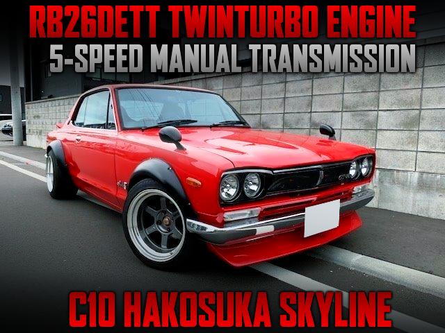 RB26 TWINTURBO SWAPPED C10 HAKOSUKA 2-DOOR.
