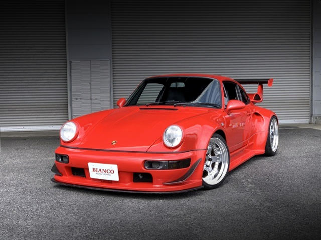 FRONT EXTERIOR OF PORSCHE 964 CARRERA TIP TO RWB WIDEBODY.