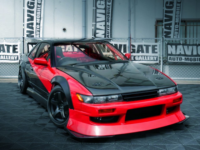 FRONT EXTERIOR OF S13 SILVIA TO URAS WORKS ARCH KIT.