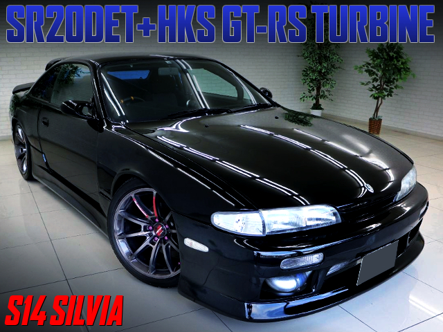 SR20DET With GT-RS TURBINE INTO S14 SILVIA BLACK.