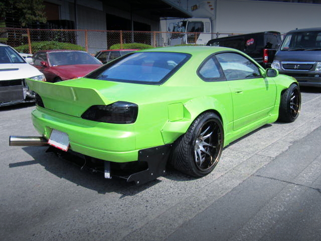 REAR EXTERIOR OF S15 SILVIA SPEC-S ROCKET BUNNY.