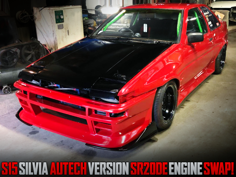S15 Autech Ver SR20DE ENGINE SWAPPED AE86 TRUENO 2-DOOR TO RED.