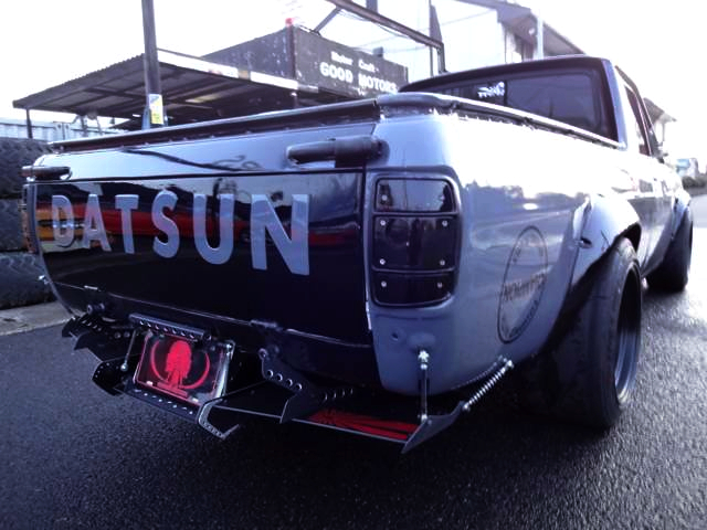 REAR EXTERIOR OF SUNNY TRUCK LONGBODY TO HAKOTORA KIT.